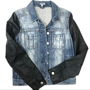 Express Denim and Vegan Leather Jacket